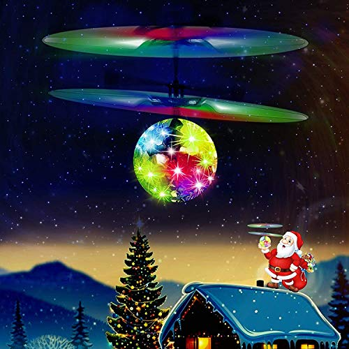 UTTORA Flying Ball,Kids Toys Remote Control Helicopter Mini Drone Magic Infrared Induction RC Flying Toy for Boys Girls Children Teenager Indoor Outdoor Garden Game