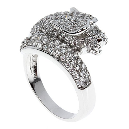 Aaa Furniture Wholesale (PSRINGS arrival white gold plated with AAA Zircon Animal Rings Romantic wedding Ring wholesale jewelry punk 9.0)