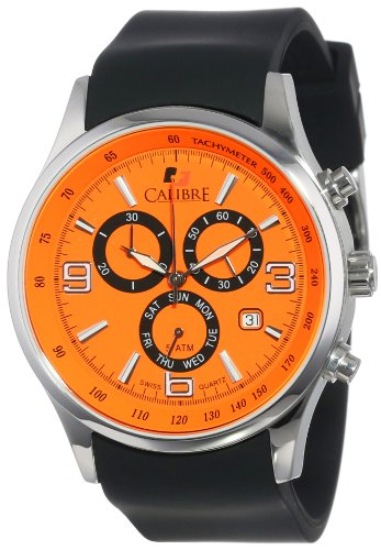 Calibre Men's SC-4M1-04-079 Mauler Stainless Steel Chronograph Tachymeter Day Date Watch by Calibre