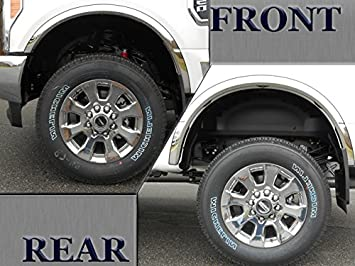 Rear Wheel Well Guards Fender Flaps for 2017-2019 Ford F-250 F-350 Super Duty