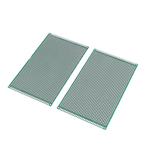 WINGONEER 2PCS (9 x 15cm) PCB Board Universal Double Sided Prototyping Breadboard Panel Circuit Board for DIY ()