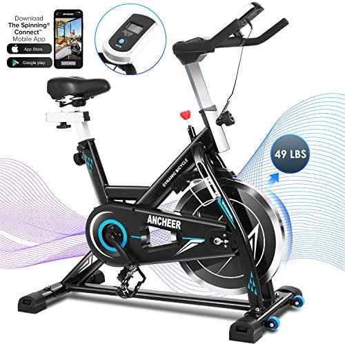 ANCHEER Exercise Bike Foldable Stationary