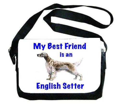 My Best Friend is English Setter Messenger Bag