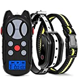 Flittor Shock Collar for Dogs, 2019 Newest Dog Training Collar, Rechargeable Dog Shock Collar with Remote, 3 Modes Beep Vibration and Shock 100% Waterproof Bark Collar for Small, Medium, Large Dogs
