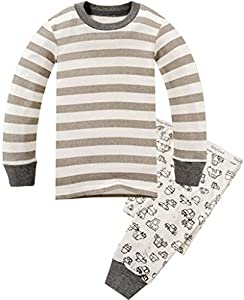 Children Pajamas Striped Cotton Clothing For Boys Set Size 2T-7