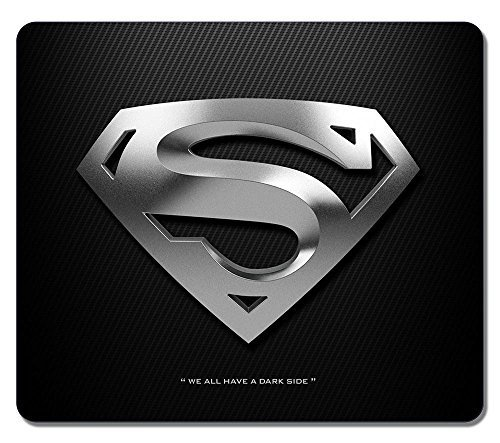 Customized Fashion Style Textured Surface Water Resistent Mousepad Silver Superman Logo Non-Slip Best Large Gaming Mouse Pads