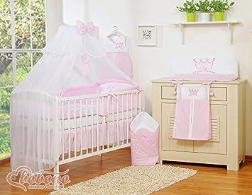 Baby betthimmel set elegant bettwäsche set für moseskorb babykorb