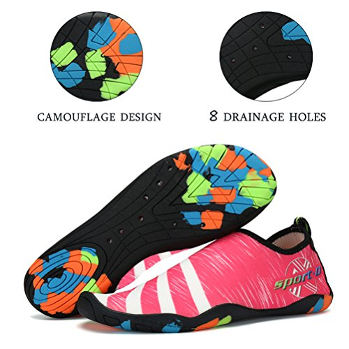 Slip River Shoes ASLISA Pool Quick Aqua for Barefoot On Men Women Socks Shoes Yoga Pink Shoes Beach Water Swim Dry nwwU80rxq