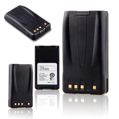 TOPCHANCES 3 Pack Portable Two-Way Radio Interphone 7.4V 2000mAh Li-ion Battery KNB-24 KNB-24L KNB-35 KNB-35L KNB-56 KNB-56L KNB-57 KNB-57L for KENWOOD Portable Radios TK-2140 TK-3140 TK-2148 TK-3148 by TOPCHANCES (Image #1)