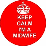 midwife 12 of RED Edible cupcake cake toppers (38mm - 1.5inch) pre cut - ready to use wafer paper discs by The Lazy Cow
