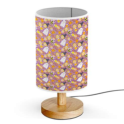 ARTSYLAMP - Wood Base Decoration Desk Table Bedside Light Lamp [ Kids Halloween Costumes ] -