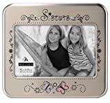 picture frame sisters - Malden International Designs Serendipity Sisters Metal Shiny Pewter Picture Frame, 4x6, Silver