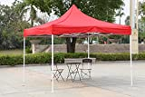 American Phoenix 10x10 10x15 10x20 [White Frame] Portable Event Canopy Tent, Canopy Tent, Party Tent Gazebo Canopy Commercial Fair Shelter Car Shelter Wedding Party Easy Pop Up (Red, 10x10)