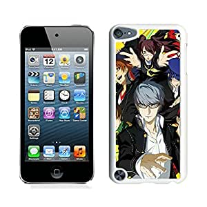 Unique And Antiskid Designed Cover Case For iPod 5 With Persona 4 Golden White Phone Case