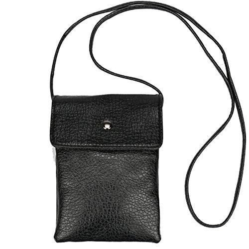 Cell Phone Purse Wallet with Shoulder Strap For Girls Women, Pu Leather Mini CellPhone Pouch for iPhone 7 Plus 6S Samsung S7 Edge ()