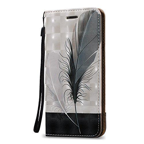 Carcasa para iPhone 6 plus 5.5 Funda Libro de PU Leather Cuero Suave -Sunroyal ® [Anti-Scratch] Ultra Slim Flip Case Cover, Cierre Magnético, Función de Soporte Plegar ,Billetera con Tapa para Tarjet A-01