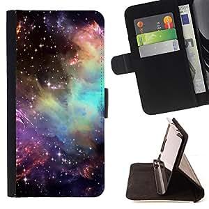 - INSPIRING UNIVERSE AWE STARS COSMOS - - Prima caja de la PU billetera de cuero con ranuras para tarjetas, efectivo desmontable correa para l Funny HouseFOR Samsung Galaxy S4 IV I9500