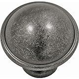 Savoy Mushroom Knob [Set of 4] Finish: Black Nickel Vibed, Size: 1.25''
