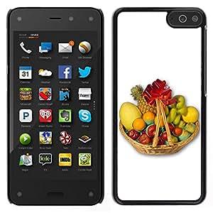 // PHONE CASE GIFT // Duro Estuche protector PC Cáscara Plástico Carcasa Funda Hard Protective Case for Amazon Fire Phone / Fruit Macro Fruit Basket /