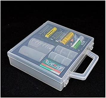 Caja de almacenamiento para pilas AA de plástico duro recargable: Amazon.es: Bricolaje y herramientas