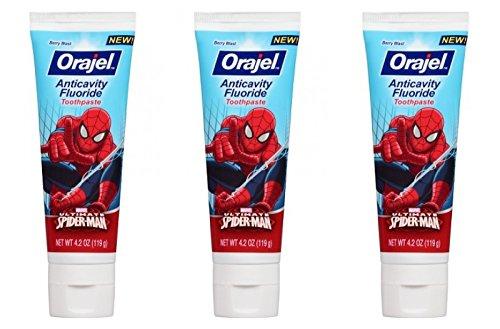 Orajel Ultimate Spiderman Toothpaste - Berry Blast 4.2 Oz (Pack of 3)