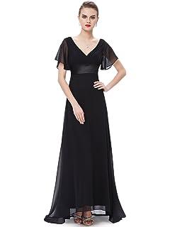 d7f4e93bc36 Ever-Pretty Half Sleeve Square Neckline Ruched Waist Evening Dress ...
