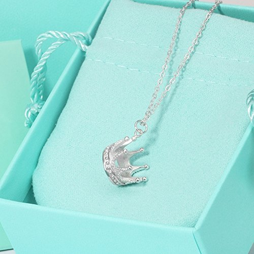 Crown Princess Necklace Pendant Copper-Nickel Alloy Plating s925 Silver Clavicle Chain Wholesale ()