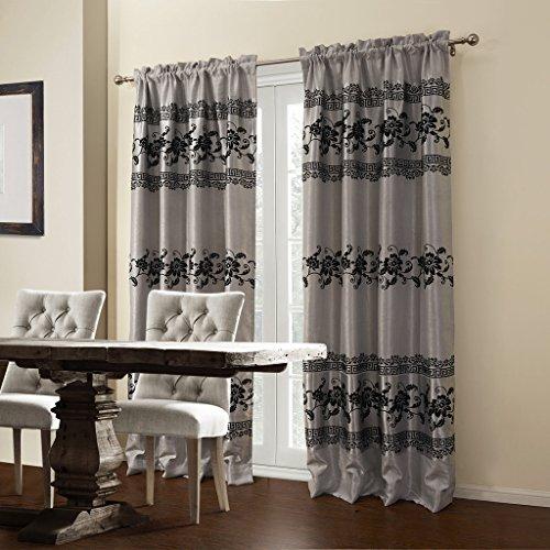 iyuego-flocking-floral-blooming-room-darkening-grommet-top-window-curtains-drape-panels-treatment-wi