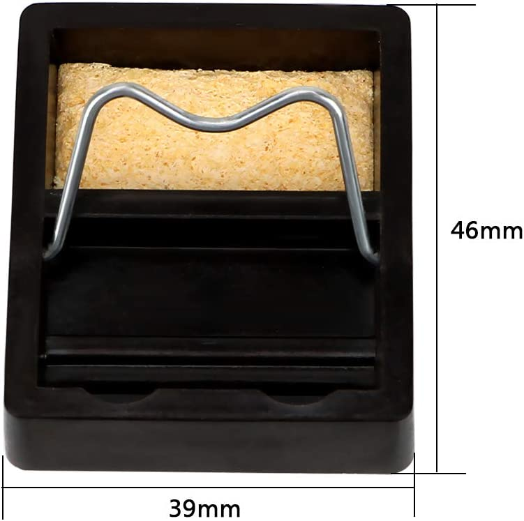 CuiGuoPing Mini Metal Electric Soldering Iron Stand Holder with Soldering Sponge High Temperature Resistance