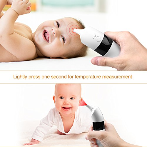 Gland Medical Digital Forehead and Ear Thermometer - Temperature and Fever Health Alert Clinical Monitoring System for Children and Adults - CE and FDA Cleared by GL (Image #2)