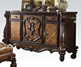 Acme Furniture Versailles 21105 70'' Dresser with 5 Felt Lined Drawers 2 Doors Scrolled Legs and Decorative Copper Metal Hardware in Cherry