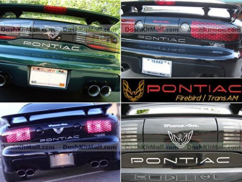Chrome Rear Tailgate Letters for Pontiac Firebird / Trans AM 1993 1994 1995 1996 1997 1998 1999 2000 2001 2002 Letter Inserts Not Decals (1995 Pontiac Trans Am Accessories)