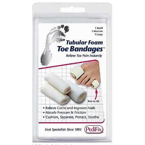 Pedifix Tubular-Foam Toe Bandages -#P337-Medium - Pack of 3