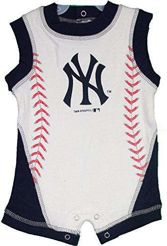 MLB New York Yankees Infant Baby Boy's Baseball Romper 6-9 Months (Infant New York Yankees Jersey compare prices)