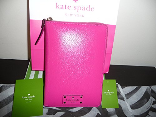 NWT KATE SPADE 2017 WELLESLEY LEATHER PLANNER ORGANIZER PINK