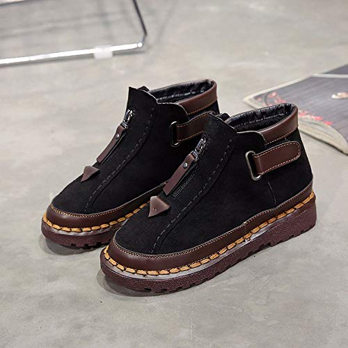 Boots Thick British Soled Boot Flat Colorblock Holywin Chelsea Brock Martin Black Womens Wind wxTtCTnqX