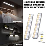 Fullwei Motion Sensor Light, 20 LED Closet Light with Magnetic Strip, Under Cabinet