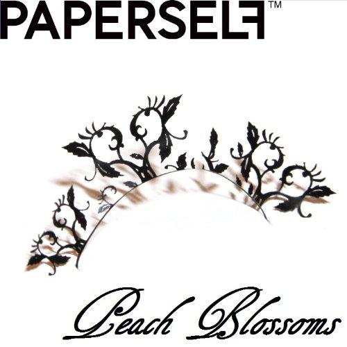신감각 페이퍼 아이래시☆PAPERSELF[페이퍼 셀프] peach-blossoms 【피치 블로섬(Blossom)】 1페어 (블랙)