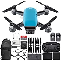 DJI Spark Portable Mini Drone Quadcopter Fly More Combo Ultimate Backpack Bundle (Sky Blue)