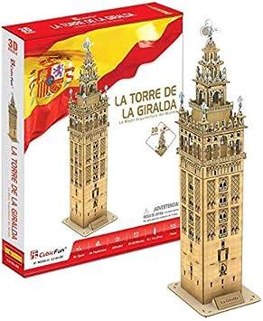 CubicFun Puzzle 3D La Torre de la Giralda, 55 Piezas (CPA Toy Group Trading S.L. C0218): Amazon.es: Juguetes y juegos
