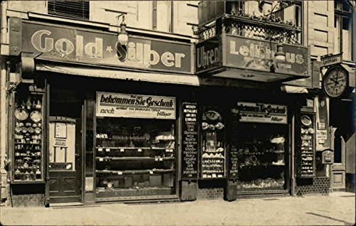 Gold & Silver Pawn Shop Leihhaus Germany Original Vintage Postcard