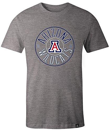 - NCAA Arizona Wildcats Adult NCAA Circles Image One Everyday Short sleeve T-Shirt, XX-Large,HeatherGrey