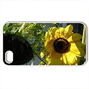 Autumn Days - Case Cover for iPhone 4 and 4s (Flowers Series, Watercolor style, White)