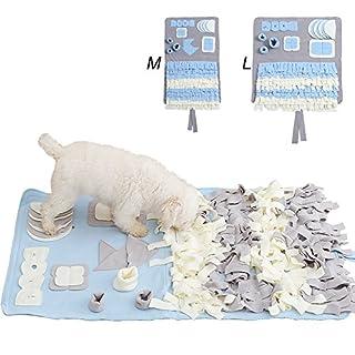 Routesun Snuffle Mat Nosework Blanket Dog Training Mats Dog Feeding Mat Pet Activity Mat Great for Stress Release (L, Grey)