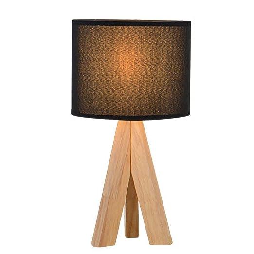 Lámparas de Escritorio Madera maciza Lámpara de mesa pequeña ...