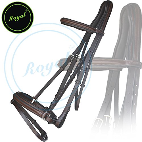 - Runners Anti Pressure Cut Head Piece Dressage Bridle & PP Rubber Grip Reins and Stainless Steel Buckles | Equestrian Show Jumping Padded Bridle Set | English Horse Riding Premium Tack | Havana|Pony
