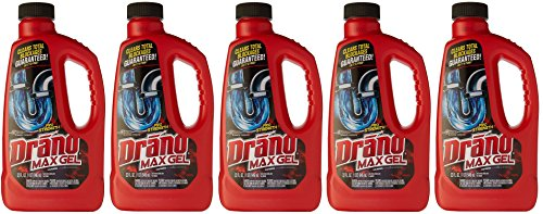 Drano Drain Cleaner EPAPic Professional Strength, 32 Ounce (Pack of 5) by Drano