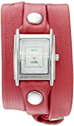 La Mer Collections Women's 'La Mer Collections Women's Coral Silver Triple Wrap Watch' Quartz Silver-Toned Leather Casual Watch (Model: LMSTWGMA14015)