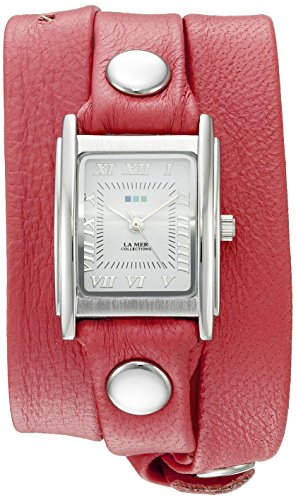 - La Mer Collections Women's 'La Mer Collections Women's Coral Silver Triple Wrap Watch' Quartz Silver-Toned Leather Casual Watch (Model: LMSTWGMA14015)