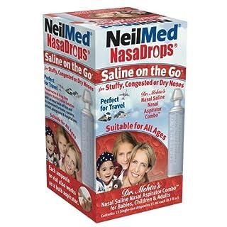 Neil Med NASA Drops Saline Vials, 15 Single-Use Ampoules, 0.5 Fl Oz